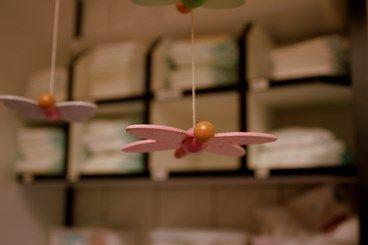 Schmetterlinge im Wickelbereich